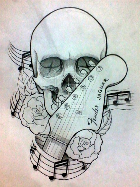 music rose tattoo designs guitar tattoos and designs page 46