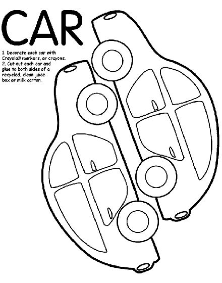 crayola coloring pages cars car box coloring page crayola
