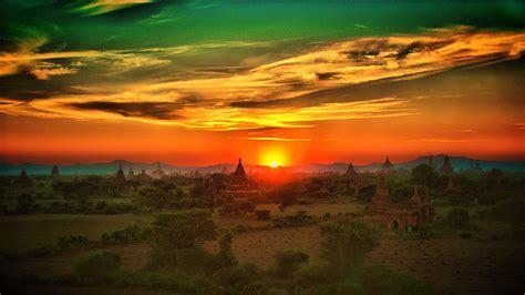 sunset landscape photo wallpaper colorful horizon pictures