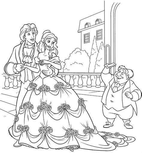 beauty and the beast dancing coloring pages 80 beauty and the beast coloring pages maurice
