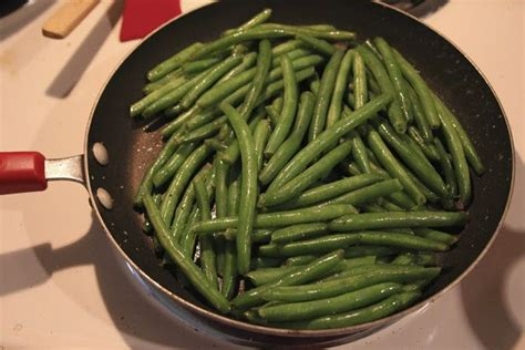 how to cook fresh green beans boiled first then saut 233 ed with onion garlic and your