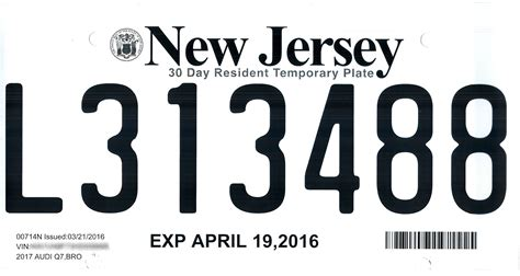 New Temporary file new jersey temporary license plate quot l quot jpg wikimedia commons