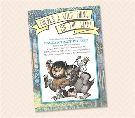 where the things are baby shower thing invitation design baby shower wedding shower or