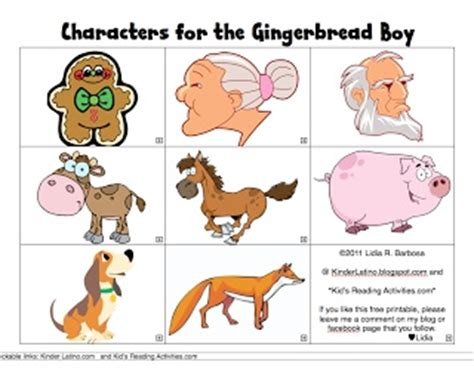 printable version of the gingerbread man free printable gingerbread man characters classroom