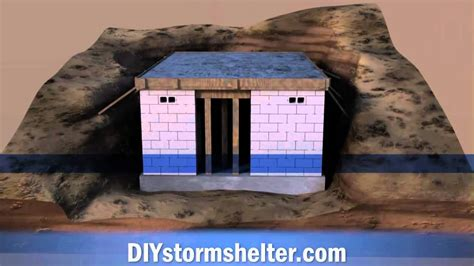 Bermed House by Concrete Block Diy Storm Shelter 12x20 Foot Youtube