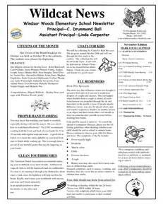 Free Elementary School Newsletter Template by 9 Best Images Of Free Elementary Newsletter Template