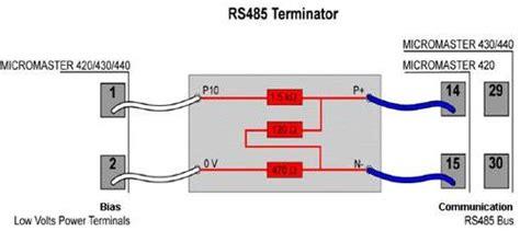 siemens terminating resistor terminating resistor can terminating wiring diagram and circuit schematic