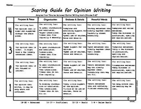 5 Paragraph Essay Rubric 5th Grade by User Friendly Opinion Writing Rubric School Language Arts Opinion