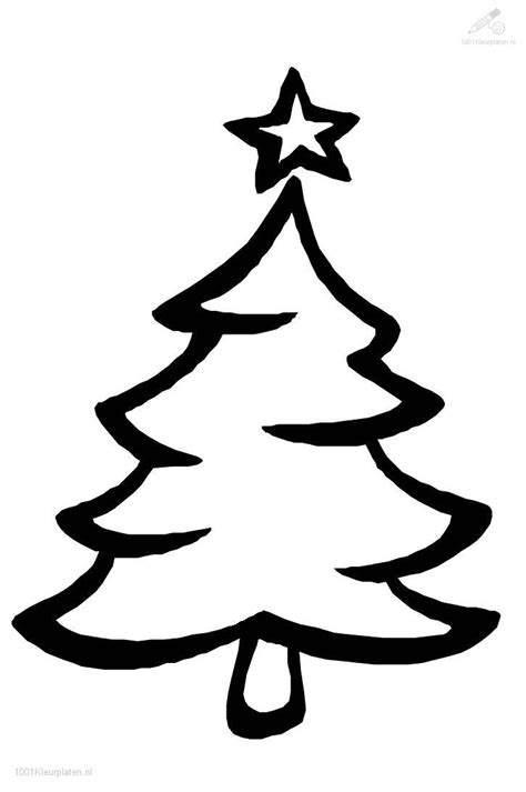 simple christmas tree coloring pages simple tree coloring page for kids free printable picture