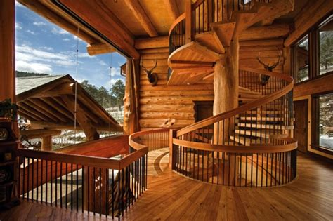 awesome log home interior interior log home open floor amazing log home brimming with sophisticated electronic