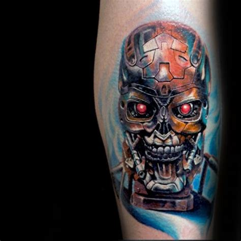 cyborg tattoo designs 60 terminator designs for manly mechanical