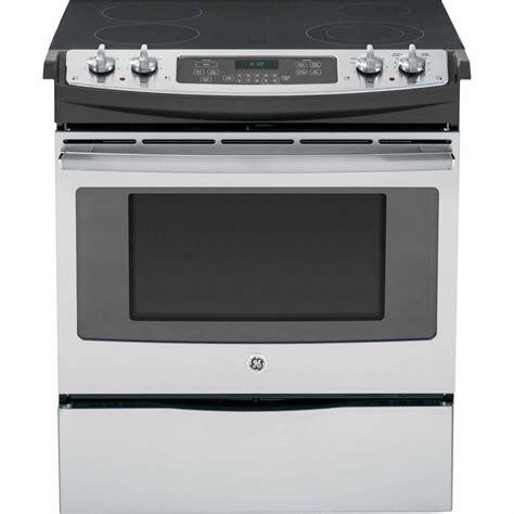 slide in range ge appliances js630sfss 30 quot slide in electric range stainless steel sears outlet