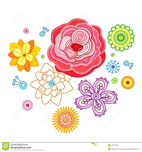 immagini fiori stilizzati i fiori stilizzati illustrazione vettoriale immagine di