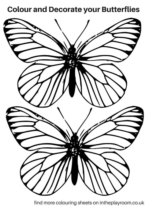 Free Printable Butterfly Colouring Pages In The Playroom Coloring Book Templates