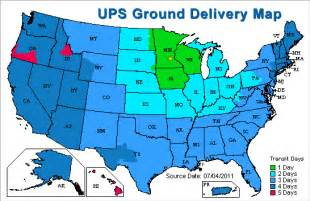 ups ground transit time map pictures to pin on