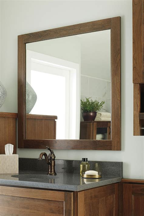 cherry framed mirrors for bathrooms cherry vanity cabinet decora cabinetry
