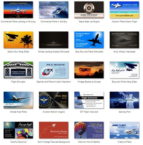 aviation business cards templates free aviation business cards 14 best aviation business cards