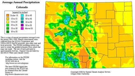 colorado average temperature map colorado precipitation map