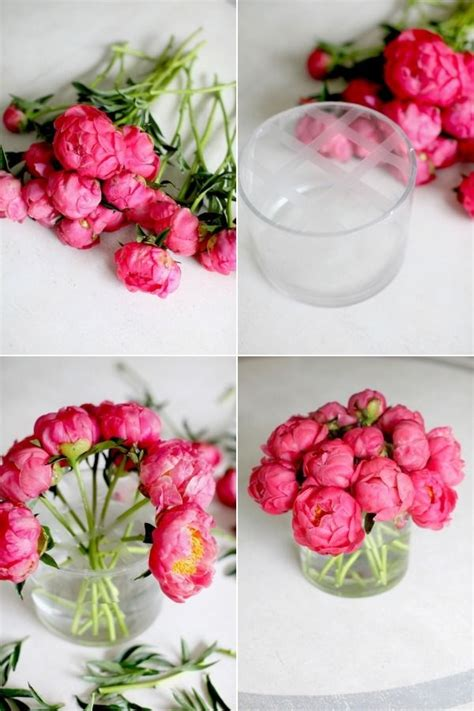 peony floral arrangement diy flower arrangement peonies 3 ways