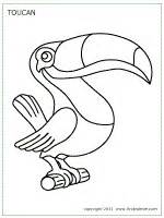 rainforest animal templates toucan printable templates coloring pages