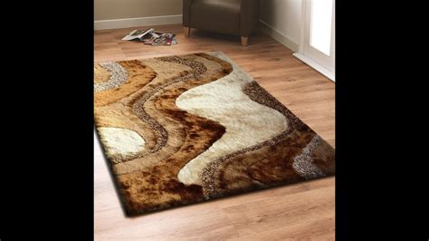 brown shag rug with beige living room area rug by rug