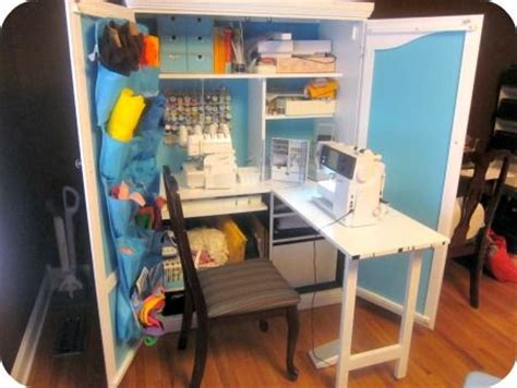 diy sewing armoire diy sewing cabinet from armoire sew insane pinterest
