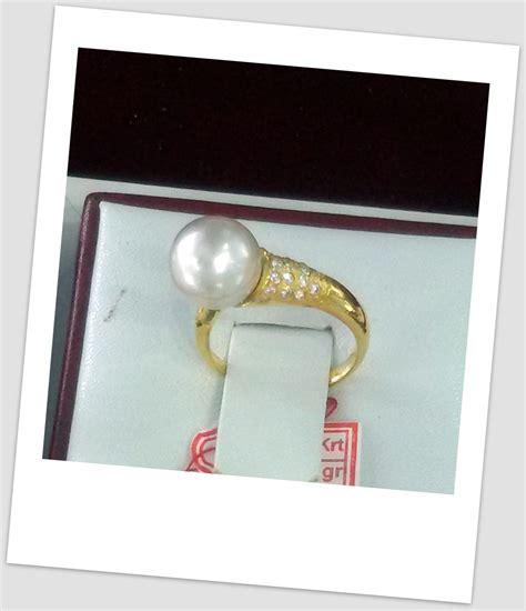 Promo Cincin Mutiara Lombok Air Tawar Khas Sekarbela 1 cincin mutiara emas 0075 harga mutiara lombok perhiasan