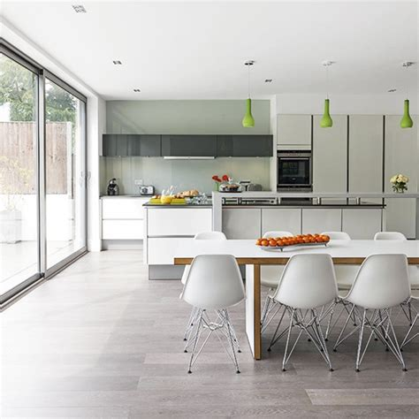 Kitchen Diner Flooring Ideas White Social Kitchen Diner Extension Kitchen Extension