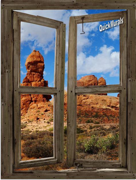 Wall Murals Cheap Peel Stick Desert Window Peel Stick 1 Canvas Wall Mural