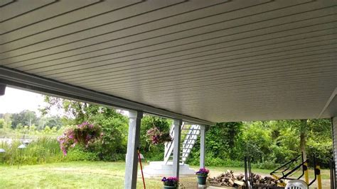 deck ceiling deck ceiling installation with a team gutters