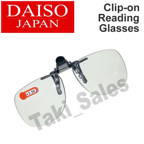 daiso japan optical clip on flip up magnifying reading