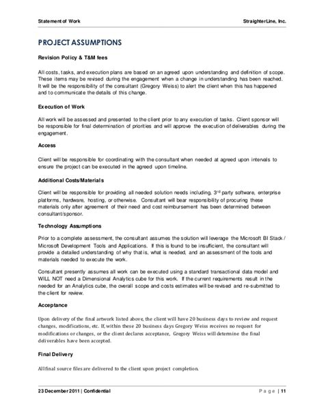 software project statement of work document sle