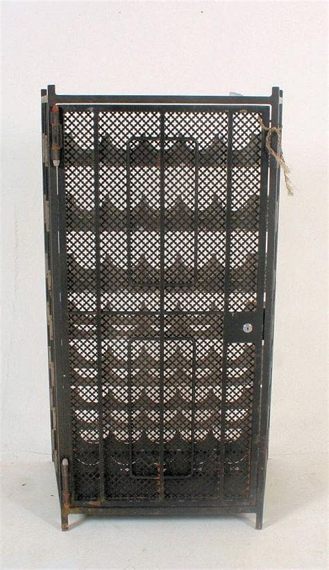 Wine Racks Wrought Iron Floor Standing by A Floor Standing Wrought Iron And Stainless Steel Wine Rack