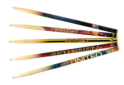 Handmade Drumsticks - blown away innovations custom graphic drumsticks