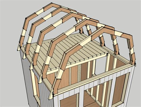 barn style roof how to draw a gambrel roof in sketchup