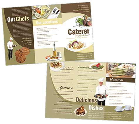 catering brochure templates catering brochure templates boxedart limited items print