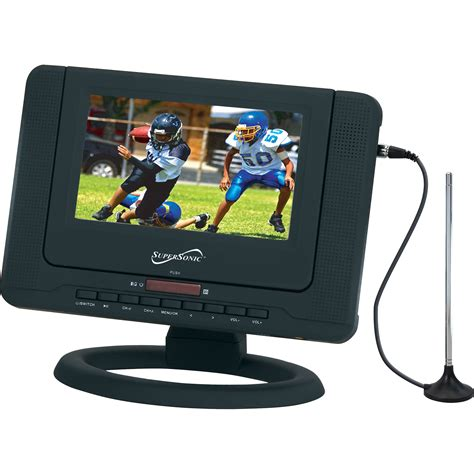 Dvd Tv Portable 7 supersonic sc 491 7 quot portable lcd tv with dvd player sc 491