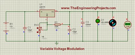 variable resistor proteus lm317 voltage regulator in proteus the engineering projects