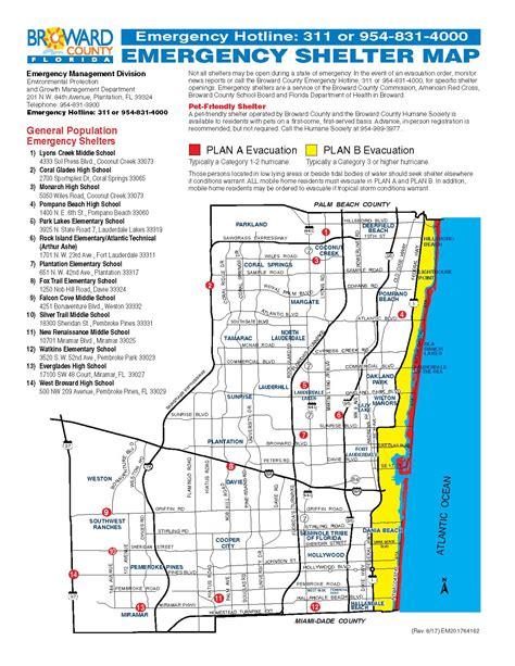 broward shelter hurricane evacuation map city of dania florida official web site