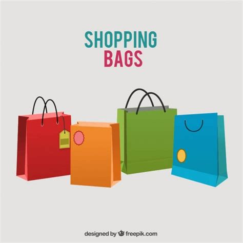 Shopping Bag Free Vector Colored Shopping Bags Vector Free