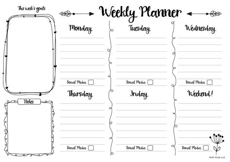 2 week planner printable calendar tip junkie
