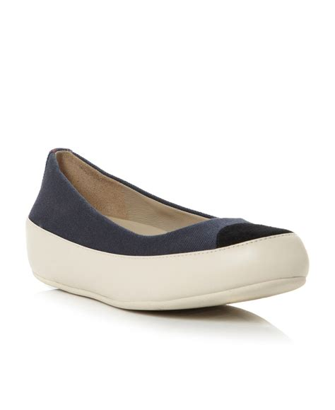 ballerina shoes fitflop due canvas flatform canvas ballerina shoes in blue