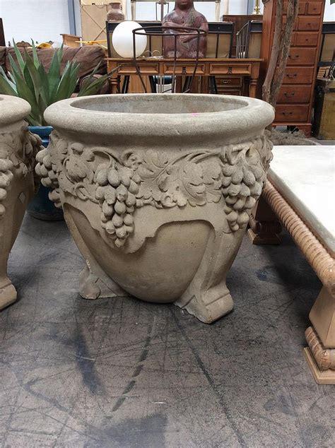 Ornate Planter by Large Ornate Concrete Patio Planter