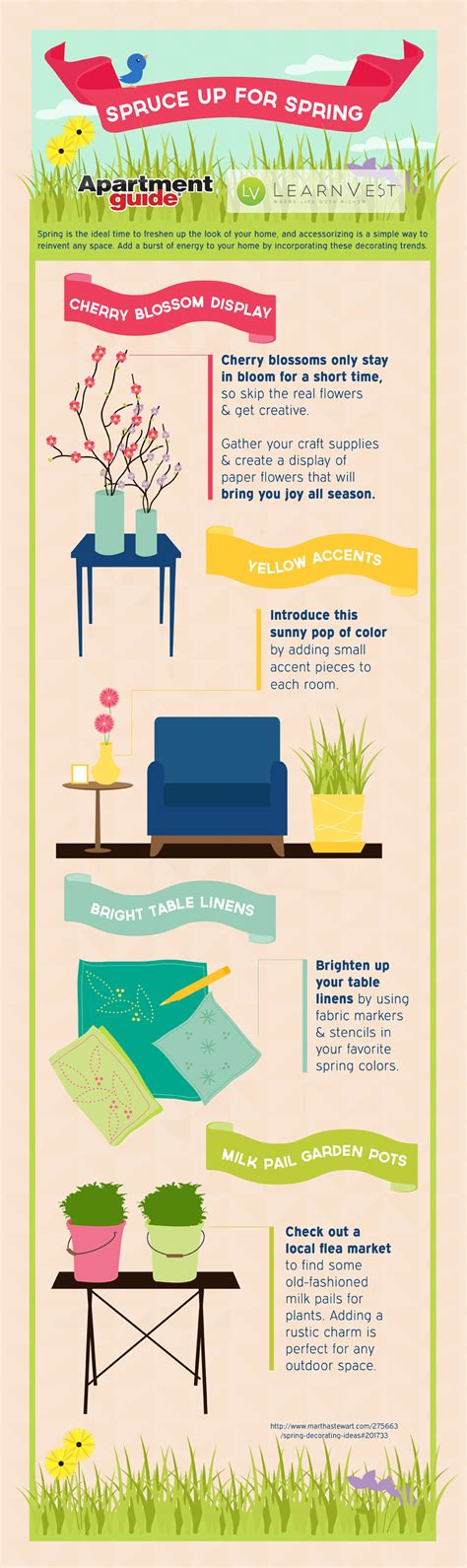 spruce up for freshen up your home infographic