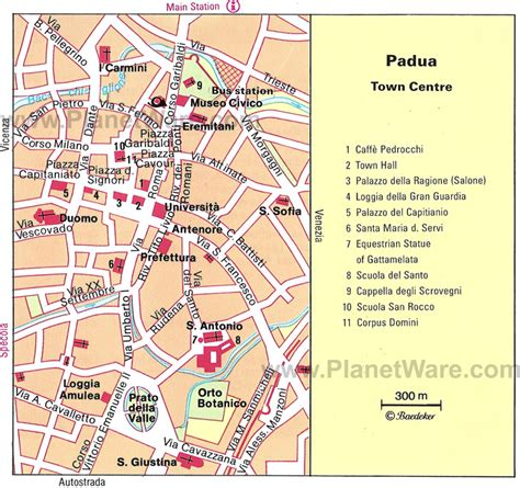 padua map 8 top tourist attractions in padua easy day trips