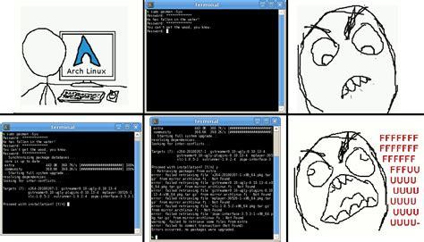 Linux Memes - arch linux meme 2 lxle linux bitsnapper