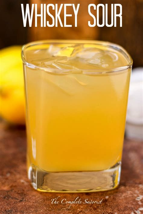 classic whiskey sour recipe dishmaps