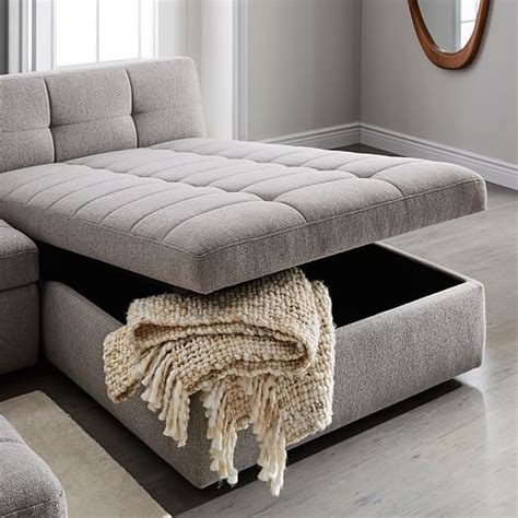 west elm storage ottoman storage chaise best storage design 2017