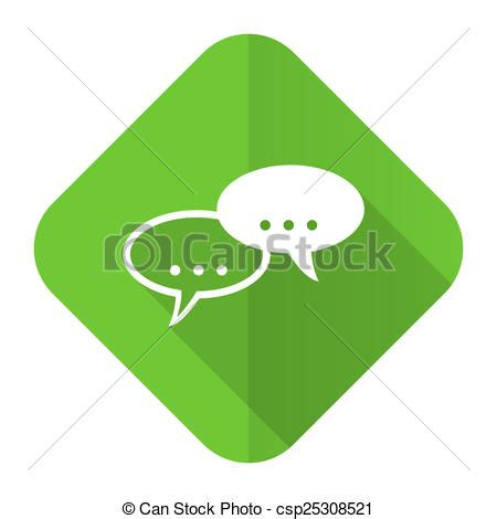 Clip Art Of Forum Flat Icon Chat Symbol Bubble Sign