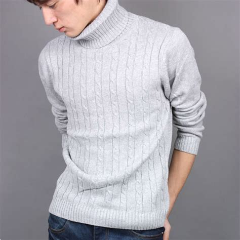 mens knit turtleneck sweater popular cable knit turtleneck sweater mens buy cheap cable
